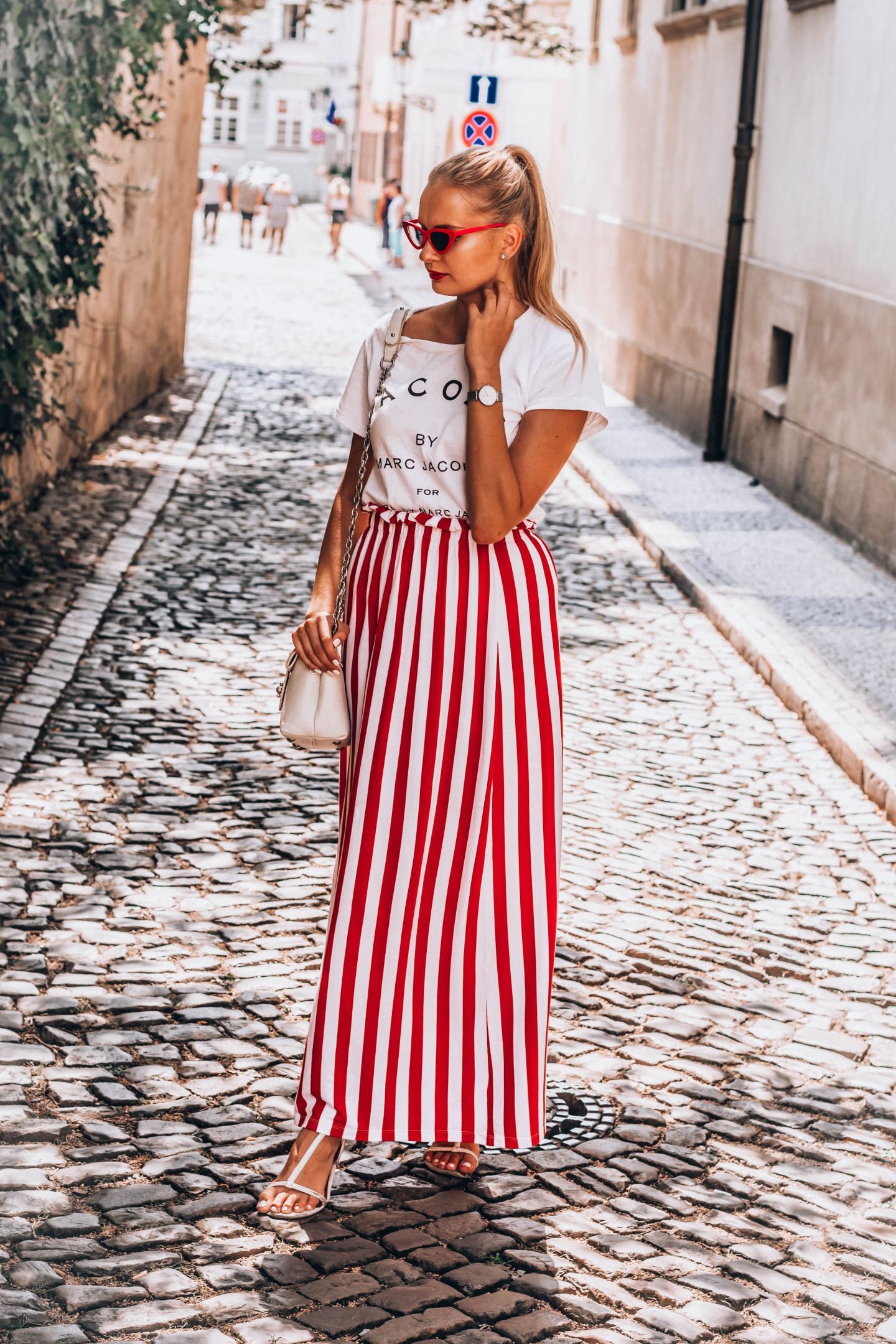 European fashion blogger in Prague